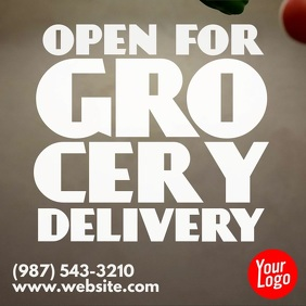 Grocery and products delivery store instagram