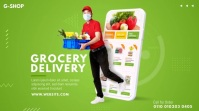 Grocery Delivery Ad โพสต์บน Twitter template