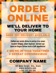 Grocery delivery and takeaway online shopping