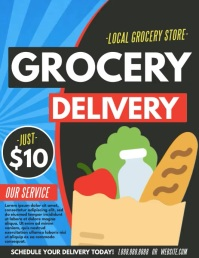 Grocery delivery Flyer (Letter pang-US) template