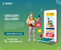 Grocery Delivery Medium Rectangle template