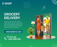 Grocery Delivery Mittelgroßes Rechteck template