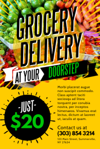 Grocery Delivery Poster