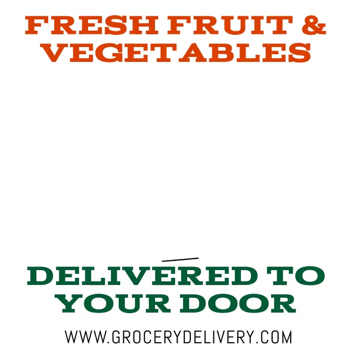 Grocery Delivery One Line Animation Square (1:1) template
