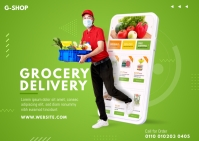 Grocery Delivery Postcard 明信片 template