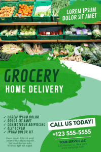 Grocery Delivery Poster Template