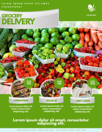 Grocery Home Delivery Flyer Template