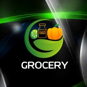 GROCERY MARKET SHOPPING LOGO SOCIAL MEDIA