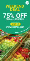 Grocery sale roll up banner template