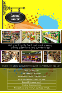 grocery store and supermarket template