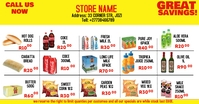 grocery store Facebook Shared Image template