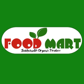 grocery store logo template