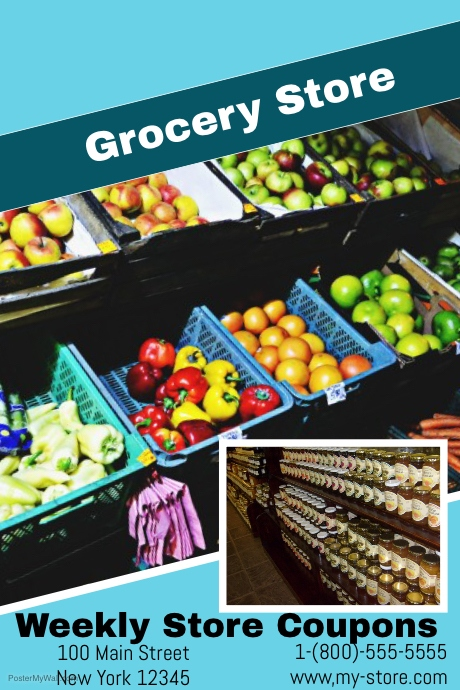 grocery store template postermywall