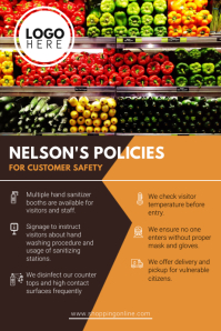 Grocery Store Reopening Guidelines Poster