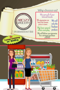 7 520 customizable design templates for grocery store sale