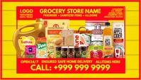 Grocery Store Visiting Card Template Cartão de visita