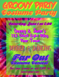 Groovy 60's Party Invitation