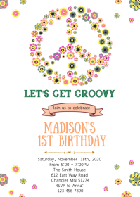 Groovy birthday invitation