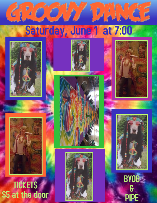 Groovy Dance Invitation, Collage, Background