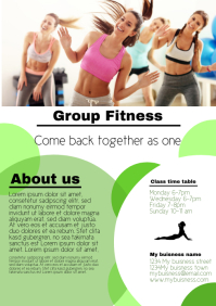 Group Activity fitness pilates yoga template