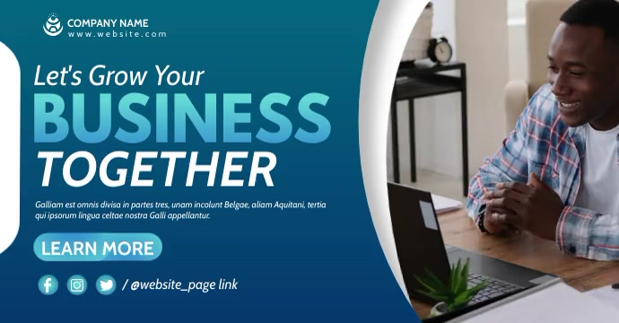 grow your business facebook advertising template