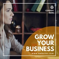 grow your business instagram post minimal adv template