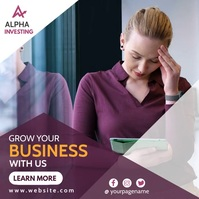 grow your business video advertising Message Instagram template