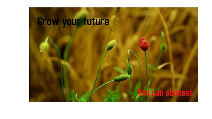 Grow your future Digitale Vertoning (16:9) template