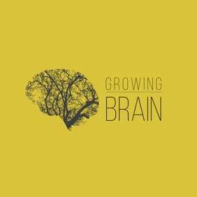 Growing Brain Company Corporate Logo Обложка альбома template
