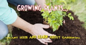 Growing plants Facebook Ad template