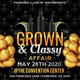 GROWN & CLASSY PARTY FLYER TEMPLATE
