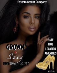 GROWN & SEXY BIRTHDAY TEMPLATE