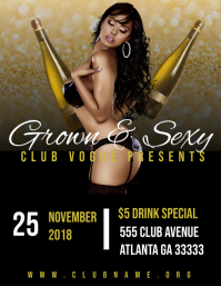 Grown and sexy club flyer