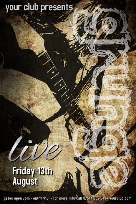 Grunge Concert poster