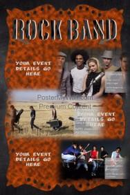 Grunge Metal Rock Band Concert Flyer Bar Poster Invitation