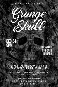 Grunge SKull Dark Poster template