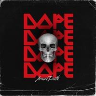 Grunged Red Skull Album Cover Portada de Álbum template