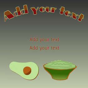 guacamole avocado instagram template