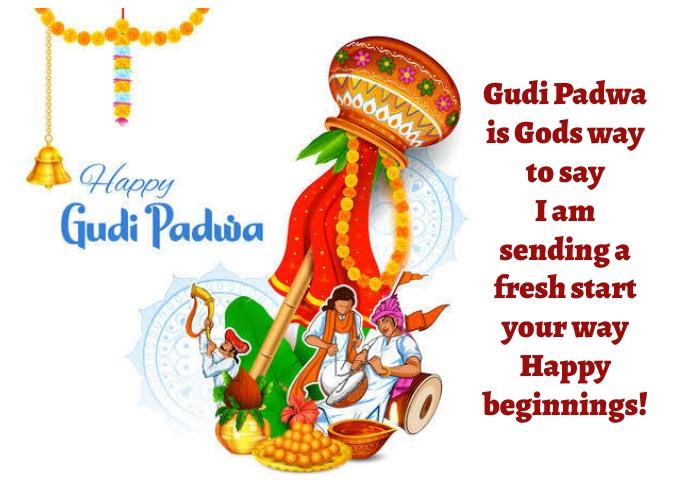 Gudi padwa Kartu Pos template