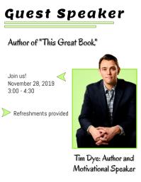 Guest Speaker Event Poster