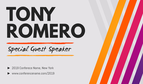 Guest Speaker Event Tag Cartellino template