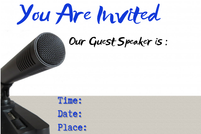 guest speaker template postermywall
