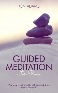 Guided Meditation Audio Book Cover Template Sampul Buku