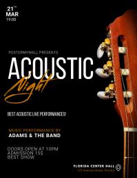 Guitar Acoustic Concert Flyer Template