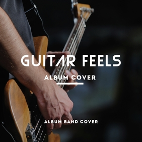 Guitar album cover design template