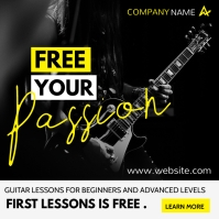 guitar and music lessons advertisement Instagram-opslag template