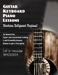 Guitar and Piano lessons Template