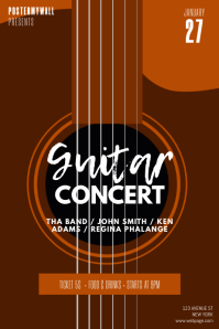 Guitar Concert Flyer Design Template
