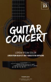 Guitar Concert Flyer Template Kindle Omslag