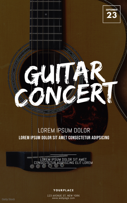 Guitar Concert Flyer Template Kindle-omslag